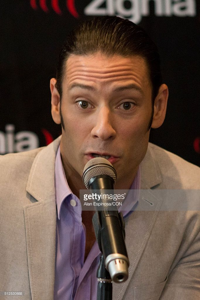 Urs Bühler member of the band Il Divo talks to the media during a press conference to announce their presentations as part of the Amor & Pasion Tour 2016 at Hotel Meridien on February 26, 2016 in Mexico City, Mexico.