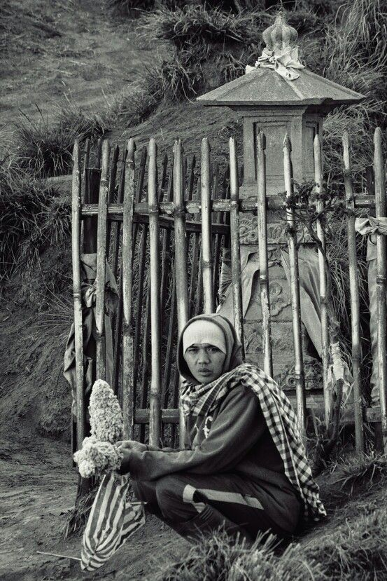 Edelweiss seller at Bromo mountain Taken with Fuji XT10, 55-200 mm f3,5