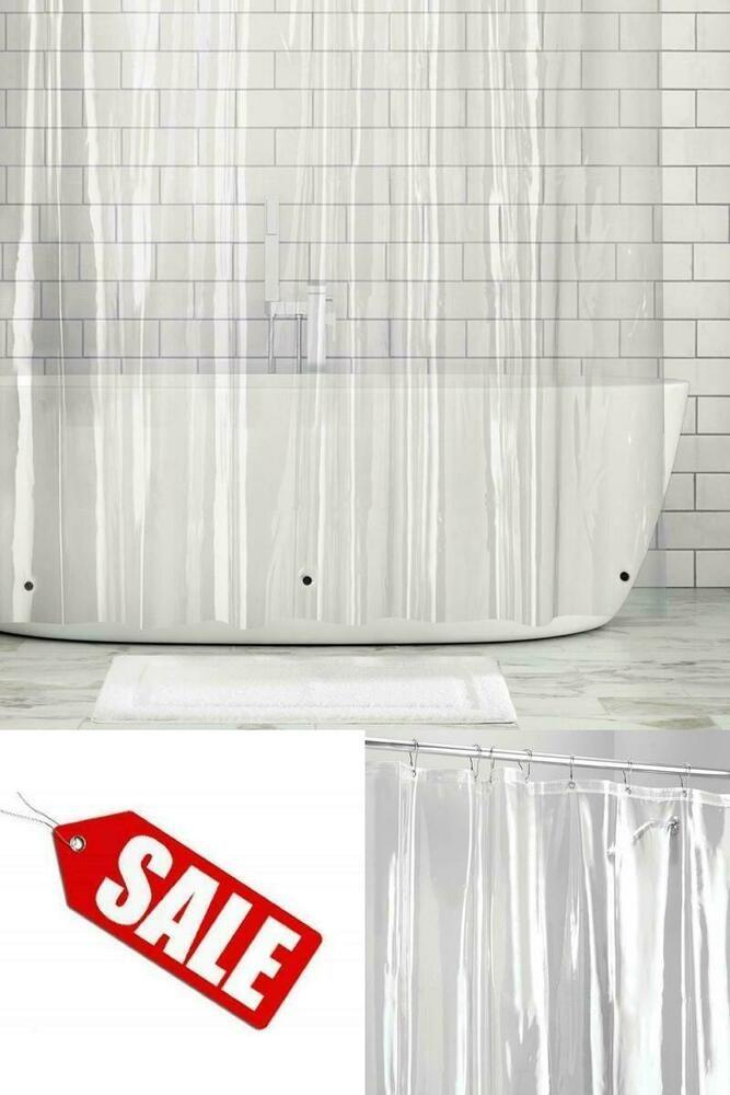 Details About Vinyl Shower Curtain Liner Bathroom Bathtub Curtains