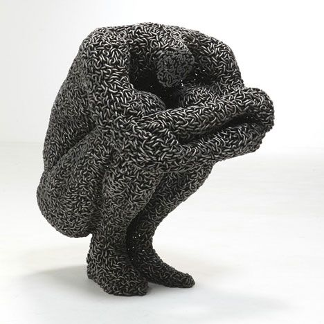 Seo Young-Deok   - sculptures made from lengths of chain