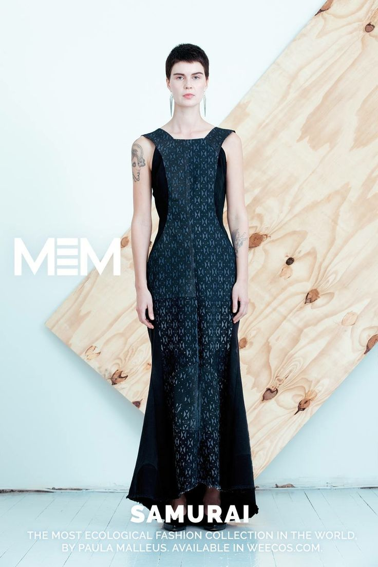 Pure postconsumer denim design MEM samurai 2017 Tori dress