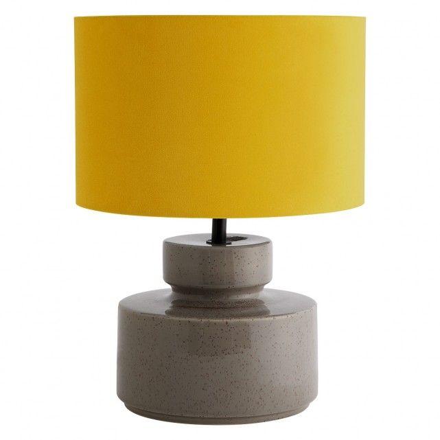 Dascia Grey Ceramic Table Lamp Base With Yellow Velvet Shade Buy Now At Habitat Uk Table Lamp Base Ceramic Table Lamps Ceramic Lamp Base