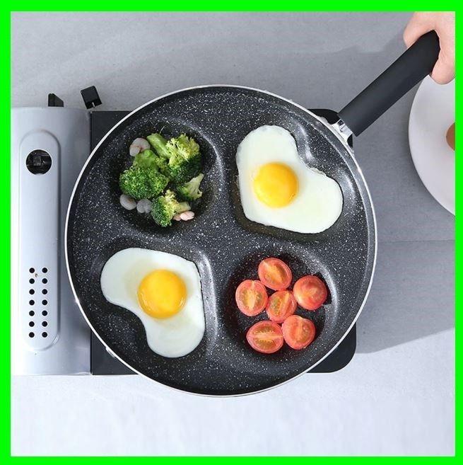 Four Hole Omelette Pot Eggs Pancake Maker Frying Non Stick Pan No Oil Smoke Easy Unbranded Pancake Maker Skillet Kitchen Omelette
