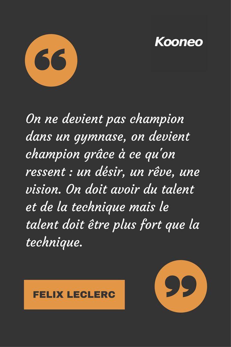 [CITATIONS] On ne devient pas champion dans un gymnase, on devient champion grâce à ce qu'on ressent : un désir, un rêve, une vision. On doit avoir du talent et de la technique mais le talent doit être plus fort que la technique. MOHAMED ALI #Ecommerce #Motivation #Kooneo #Mohamedali : www.kooneo.com