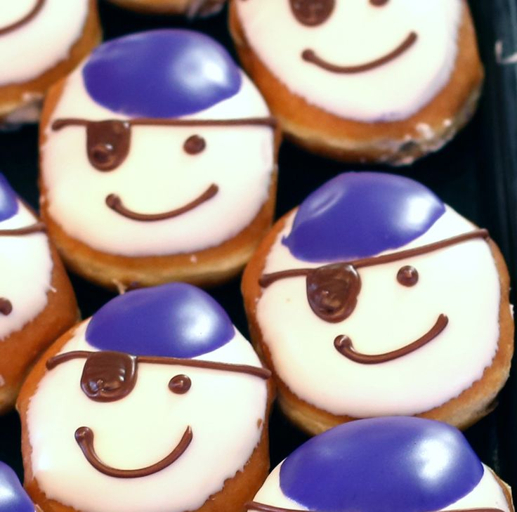 Cream-filled Pirate doughnuts available at the Krispy Kreme in Greenville, N.C., on East Carolina University Pirates home football game weekends.