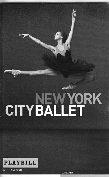 New York City Ballet's program cover, 2011-2012.