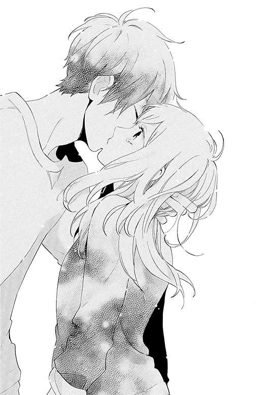 Картинки аниме черно белые пары аниме