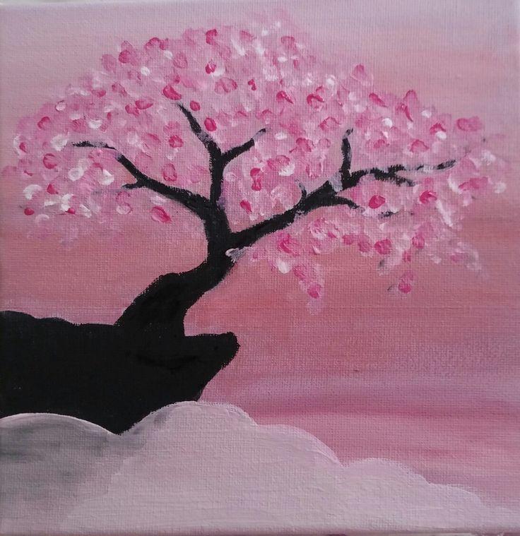 Cherry blossom painting