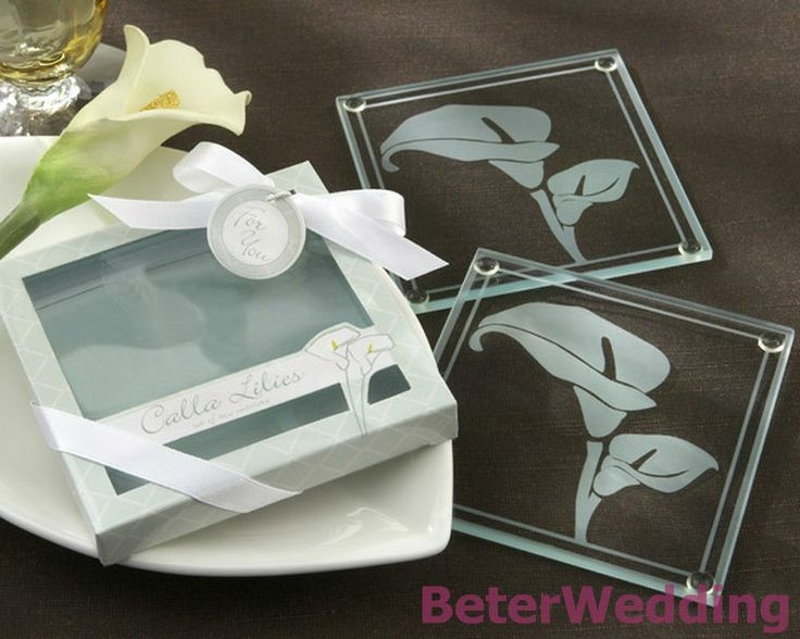 50pcs=25box Calla Lilies Frosted-Glass Coasters BD030 party favours gifts@Shanghai Beter Gifts Co Ltd          http://aliexpress.com/store/product/Wedding-Dress-Tuxedo-Favor-Boxes-120pcs-60pair-TH018-Wedding-Gift-and-Wedding-Souvenir-wholesale-BeterWedding/512567_594555273.html #coaster #weddingfavors #beterwedding #babyshowerfavors #love #crafts #giveaways #partygifts