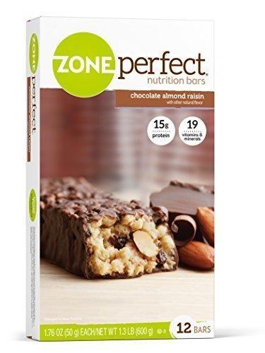 ZonePerfect Nutrition Bars Chocolate Almond Raisin 1.76 oz 12 Count