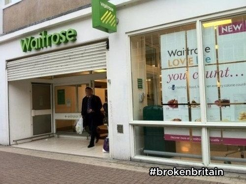 Because everyone is weirdly combative all the time, even this branch of Waitrose.