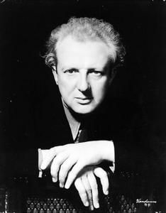 """Leopold Stokowski - resident of the Garden of Allah Hotel -  Leopold Stokowski was a British-born, naturalized American orchestral conductor, well known for his free-hand performing style that spurned the traditional baton. Among other things he was also the conductor for Disney's """"Fantasia."""" He lived @ GOA & often swam w/ kids from his 3rd wife–Gloria Vanderbilt in the pool there."""