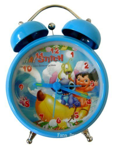 Stitch Retro Style Alarm Clock - Lilo and Stitch Alarm Clock by TW. $22.50. Measures 5 Inches TallRuns Off 2 AAA Batteries (Not Inlcuded)Analog Face Clock