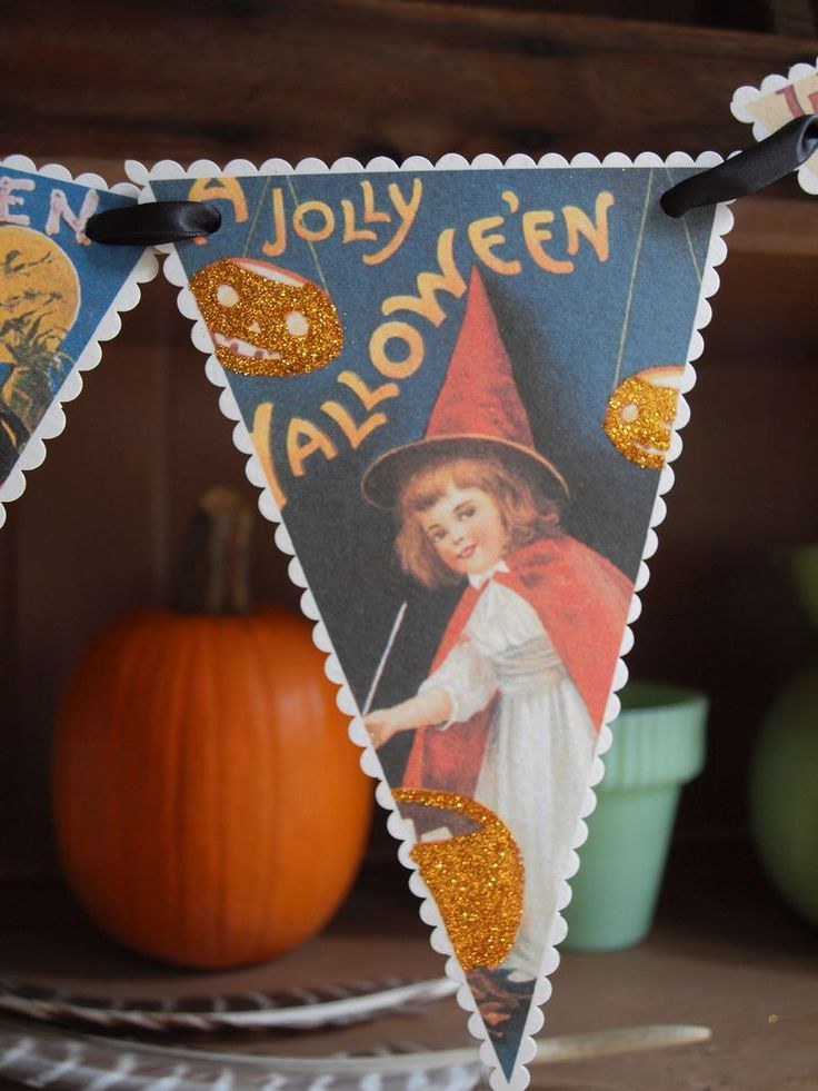 free, vintage halloween banner - gaddie+tood blog :: printable party + holiday paper goods