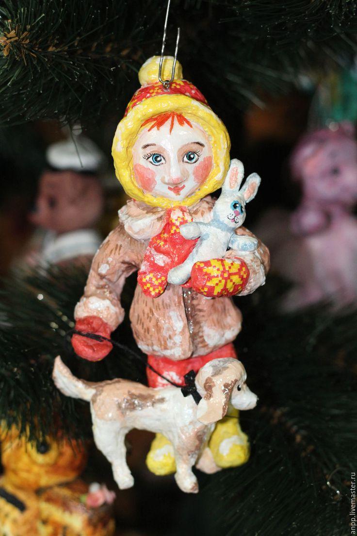 Купить Ватная елочная игрушка Машенька - игрушка, елочные игрушки, игрушка на елку, новый год 2017