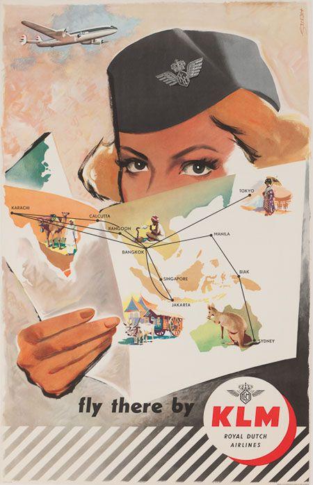 Vintage KLM advertising poster. #greetingsfromnl