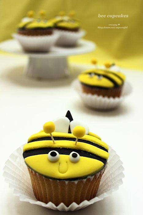 꿀벌 컵케이크,컵케이크, bee cup cake,cupcake http://blog.daum.net/aspoonful