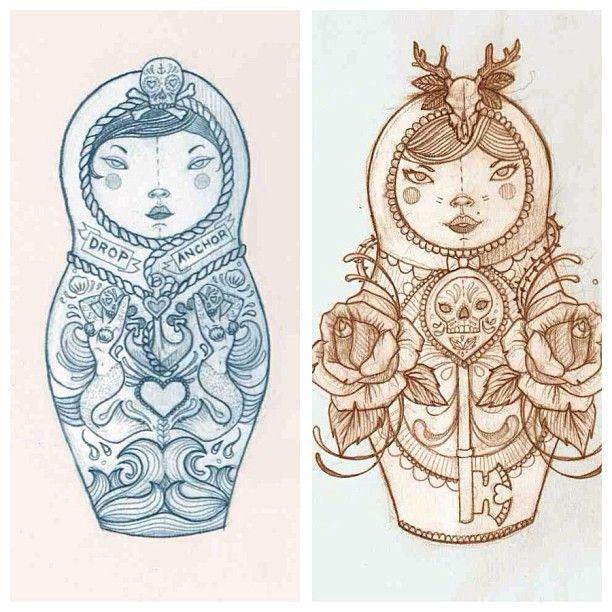 matryoshka tattoo designs body art pinterest design tattoo designs and tattoos and body art. Black Bedroom Furniture Sets. Home Design Ideas