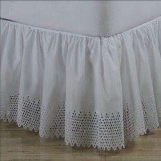 Punchboard Eyelet Ruffled Bed Skirt - Bed Skirts & Shams | ShopBedding.com