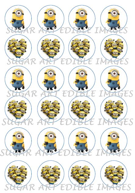 Minion Cup Cake Toppers $15  #minion #dispicableme #kidsparties #minionsmovies #minioncupcakes #minionparty