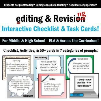 essay revision activities Hello, my name is dena harrison, and the act of revision is something i have worked hard to help my middle school see as an authentic task teaching revision is tough.