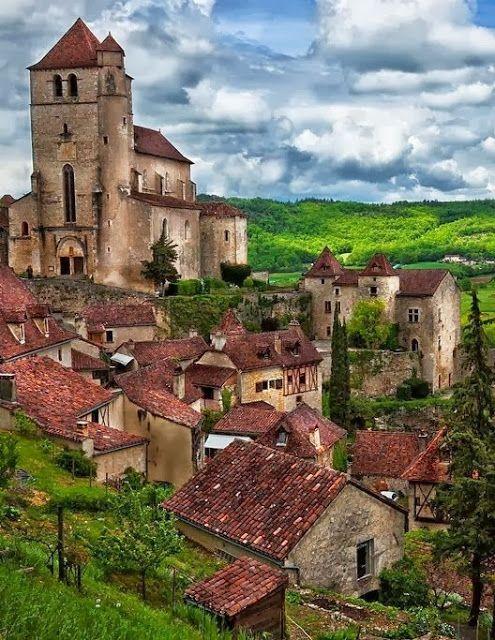 Saint Cirq Lapopie, Lot, Midi Pyrénées, France