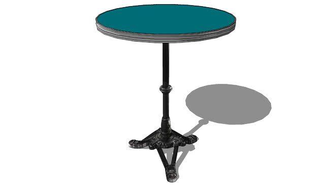 Table De Bistrot Ronde Societe Ardamez Ral 5021 Bleu Prix 419 00 3d Warehouse Side Table Coffee Table Table
