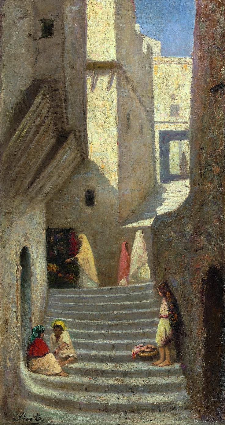 Joseph Sintes (Spanish, 1829-1913). Dans la casbah d'Alger