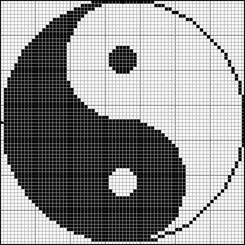 free yin yang x-stitch chart