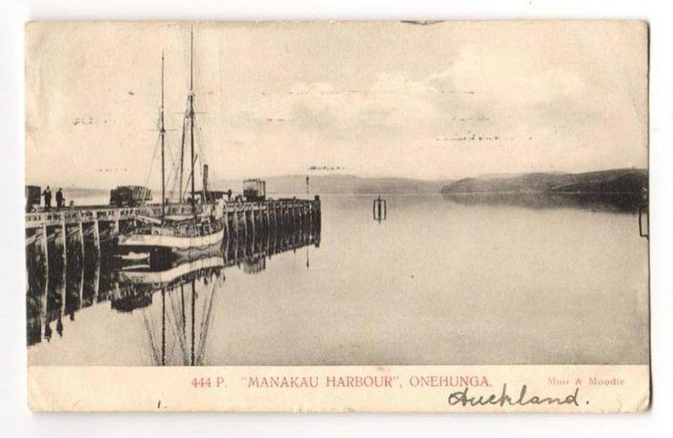 Postcard of Manukau Harbour Onehunga. Superb view of wharf and ship. - 45561 - Postcard - Postcards Auckland Suburbs - Postcards New Zealand - Postcards By Country - EASTAMPS