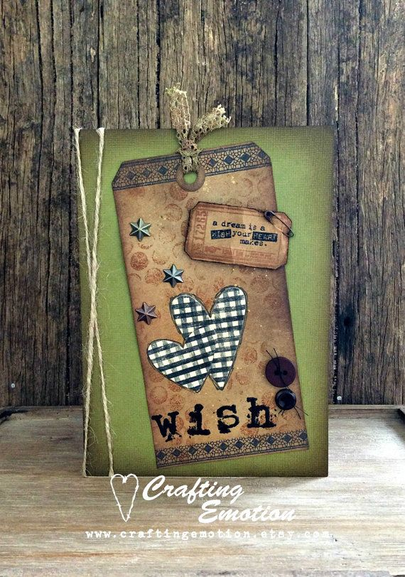 Ideal for Birthdays, travellers, weddings, births, thank you's, celebrations of any kind. 'A Dream is a Wish your Heart Makes'. By Crafting Emotion $11.00AUD