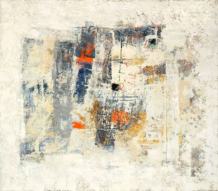 Снегопад 70х80 см холст, масло  abstraction abstract painting abstract art for sale white beige blue light color