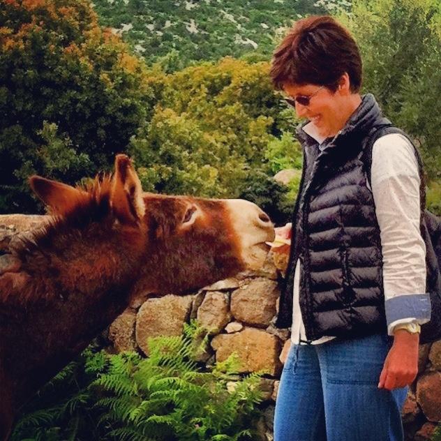 me and the donkey golgo ( Baunei)