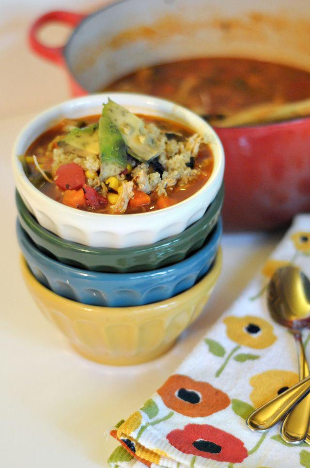 Roasted Poblano, Chicken and Quinoa Soup    HeathersDish.com   Recipes ...