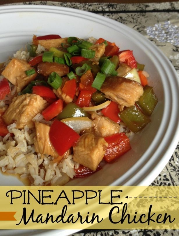 Slow cooker pineapple mandarin chicken