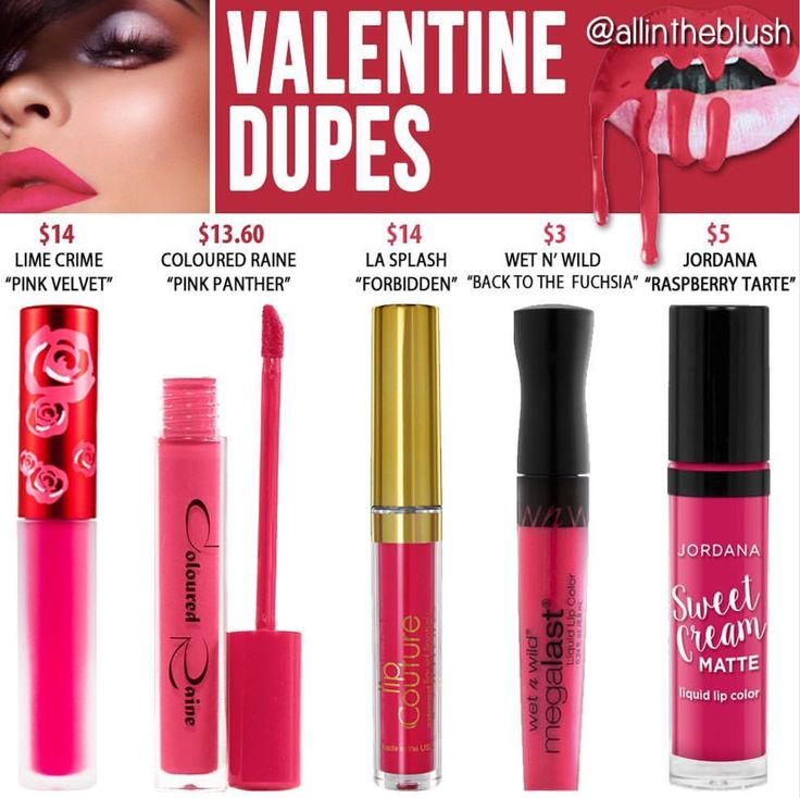 Kylie Cosmetics' new shade from the Valentines Collection in Valentine dupes
