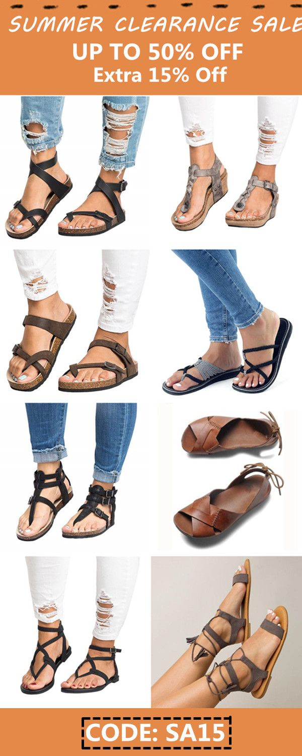 2e373e867971 Summer sandals clearance sale! Up to 50% OFF + Extra 15% OFF Code  SA15.  All comfortable leather sandals from Chellysun  sandals  flat  leatherwork   cute ...