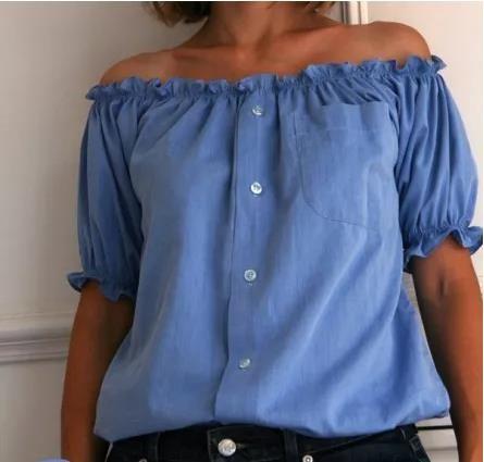 Transformez une chemise d'homme en jolie blouse féminine grâce à ce DIY !