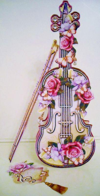 """Vintage Soft Yellow Violin"" on Craftsuprint designed by Atlic Snezana - made by Pam Stubley. Graphics by Atlic Snezana, Moonbeam1212, jaguarwoman.com"