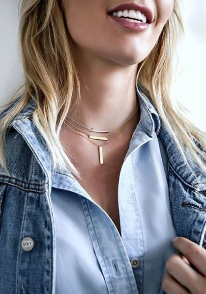 We can't get enough of this gold jewelry trend! Lucky for us we canmake our mark with one or more of the Les Plaisirs de Birks gold bar necklaces starting at $375. Shop online or at any of our Birks stores.