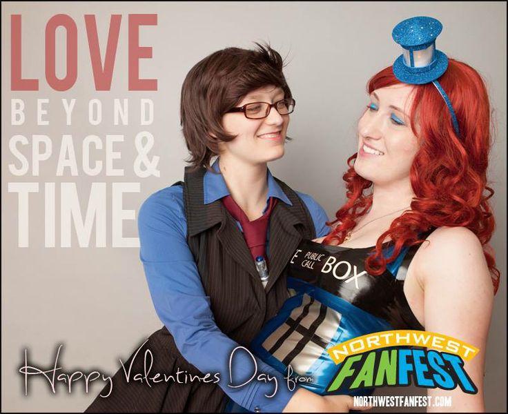 Happy Valentine's Day from Northwest Fan Fest!  #doctorwho