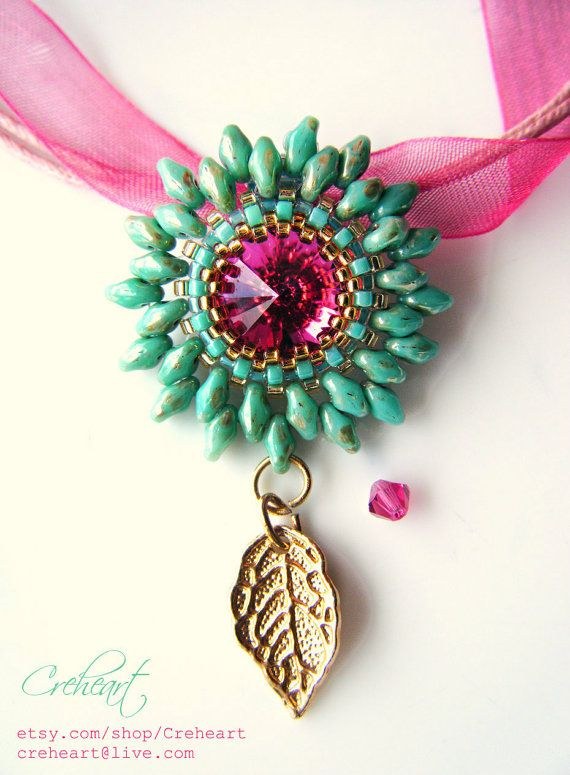 Make a statement! | Beaded pendant with SuperDuos