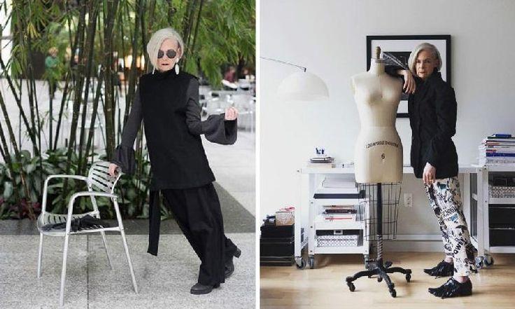 Она не носит косынки и длинные юбки, как наши бабушки... 63-летняя стиляга бомбит мир моды.