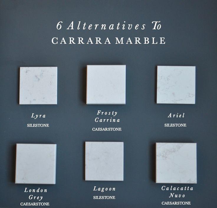 6 Alternatives to Carrara Marble Kitchen Worktops                                                                                                                                                                                 More
