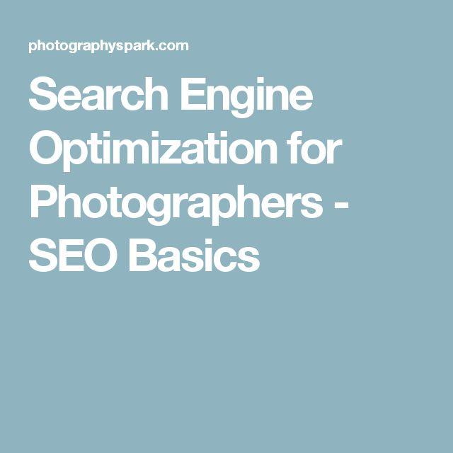 Search Engine Optimization for Photographers - SEO Basics