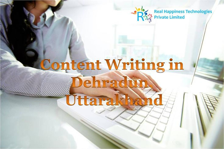 Content Writing in Dehradun, Uttarakhand Bring back your website's unconcealed meanings, get maximum traffic with fresh content which Google recommends. http://realhappiness.co/