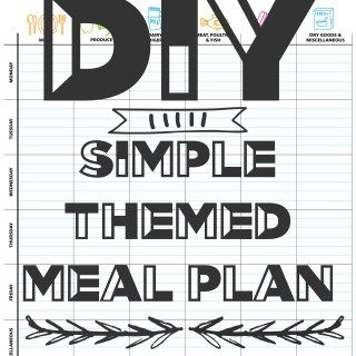 DIY: Simple Themed Meal Plan you can use Over and Over