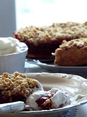 w lazurowej kuchni: Kruche ciasto z wiśniami