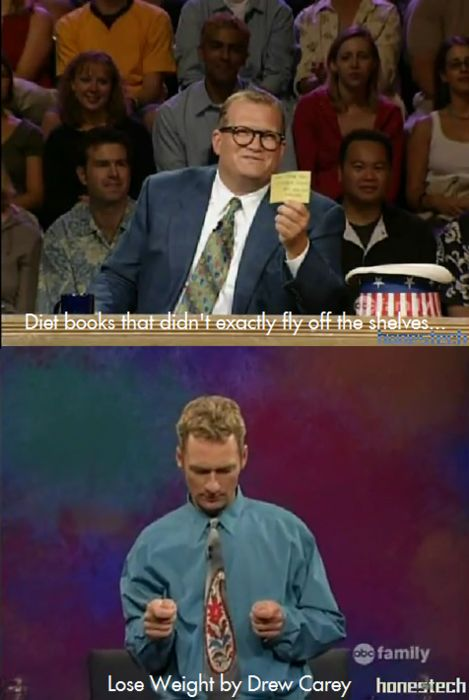 Whose Line is it Anyway? Drew Carey Ryan Lose Weight Books Scenes from a hat lol