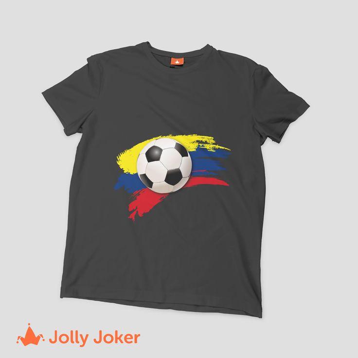 Las camisetas de Colombia para el mundial de Rusia deben ser geniales y exclusivas! En Jolly Joker puedes diseñar y crear tus camisetas como tu prefieras, ordenarlas super rápido y no pasar desapercibido en ningún partido del mundial!